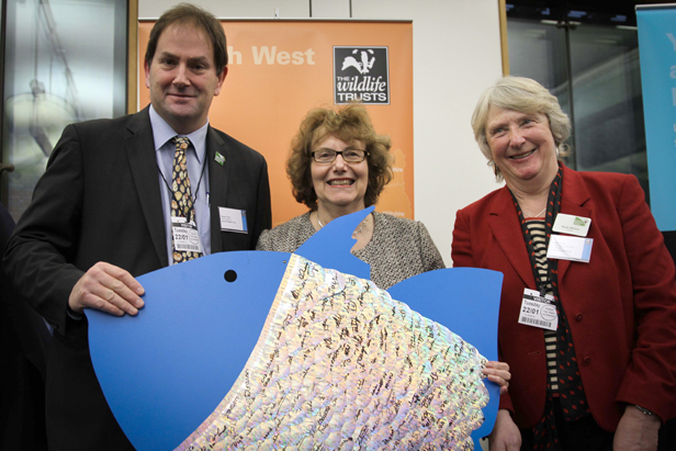Annette Brooke shows her support for The Wildlife Trusts Marine Conersvation Trust