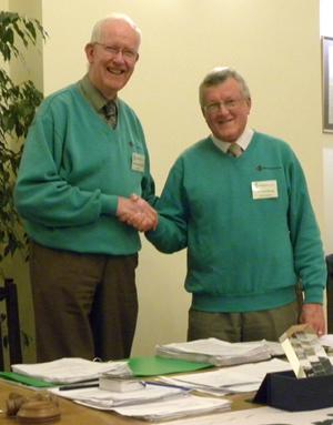 Anthony Oliver hands over to Richard Nunn
