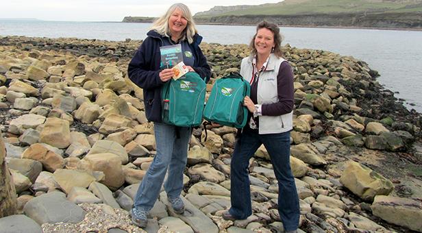 Julie Hatcher, Marine Awareness Officer at Dorset Wildlife Trust with Lis Gordon, director of Rockley Adventure