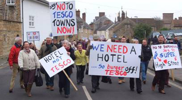 Sherborne marches against Tesco plans