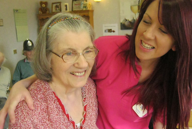 Care Assistant Jo and Talbot View resident Rose