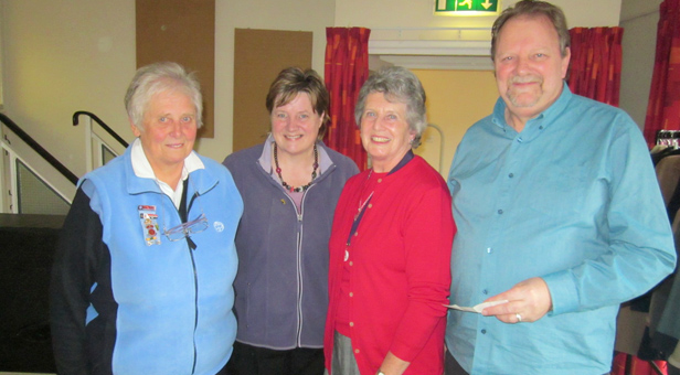 RFDS President, Mrs Dorothy Brownwith Rosemary Watts (GuideDistrict Commissioner) and John and Rose Smith from Ringwood Vineyard Church
