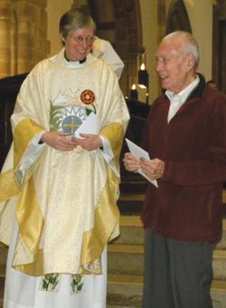 Reverend Vanessa Herrick with John Davis
