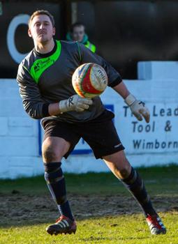 Wimborne Town goalkeeper Jason Harvell