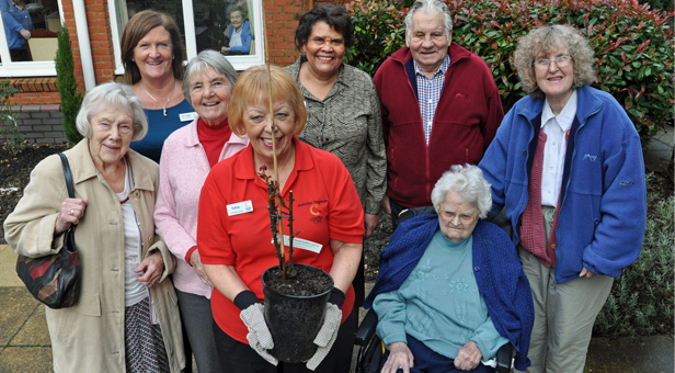 Resident Betty Shipton, 92, together with her family, other residents and Colten Care staff