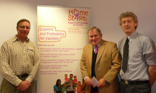 Robert Walter MP (North Dorset) visited members of the Home-Start North Dorset