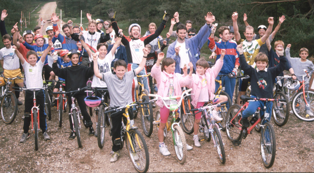 Moors Valley- A group of cyclists from the 1990s
