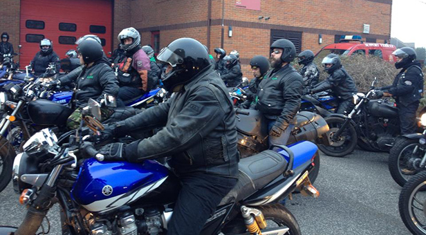 BIKERS GATHER IN SPRINGBOURNE