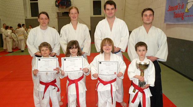 Students at Ferndown Mini Jitsu Club