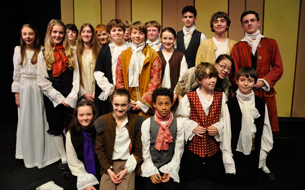 The cast of The Order of the Heavens at the Ringwood Waldorf School