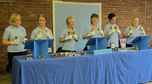 Members and volunteers of Ringwood & Fordingbridge Club for the Blind