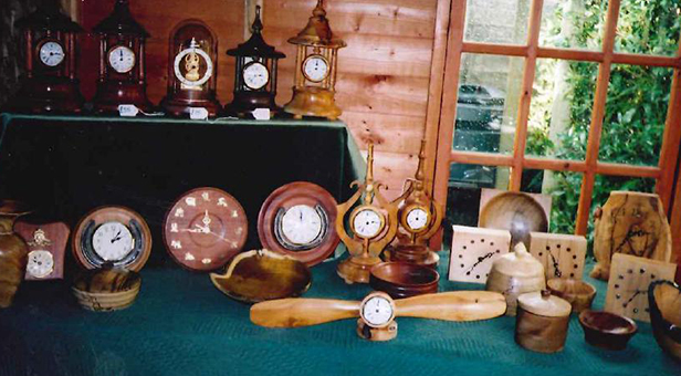 Hand crafted clocks and ornaments