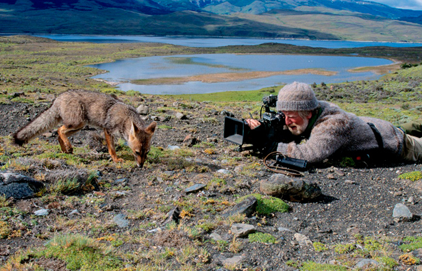 Hugh Miles filming in the Andes © L Campbell