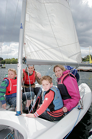 Sailing at the Spinnaker Club