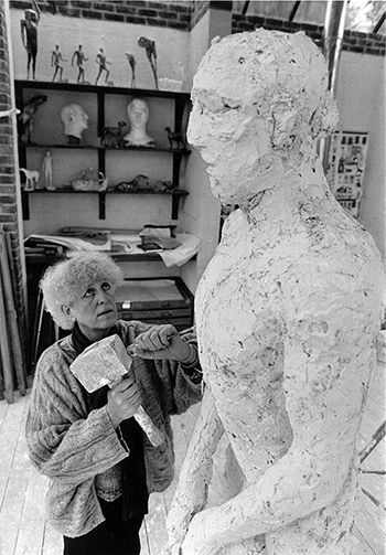 Dame Elisabeth Frink carving Dorset Martyr