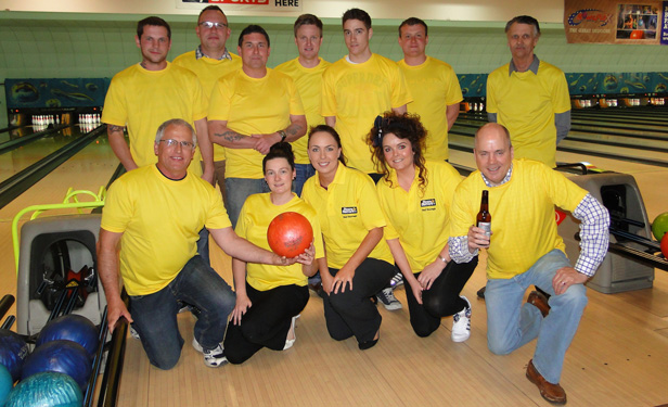 Lewis-Manning Hospice charity bowling team