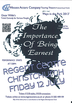 The Importance of Being Earnest promotional poster