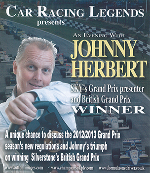 An evening with Johnny Herbert poster