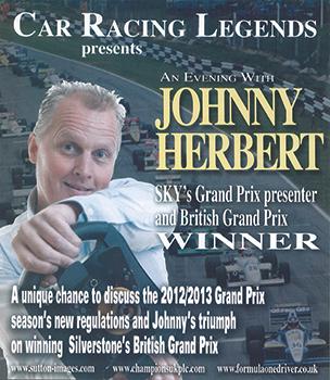 An evening with Johnny Herbert poster