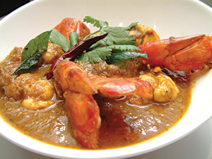 King prawn curry