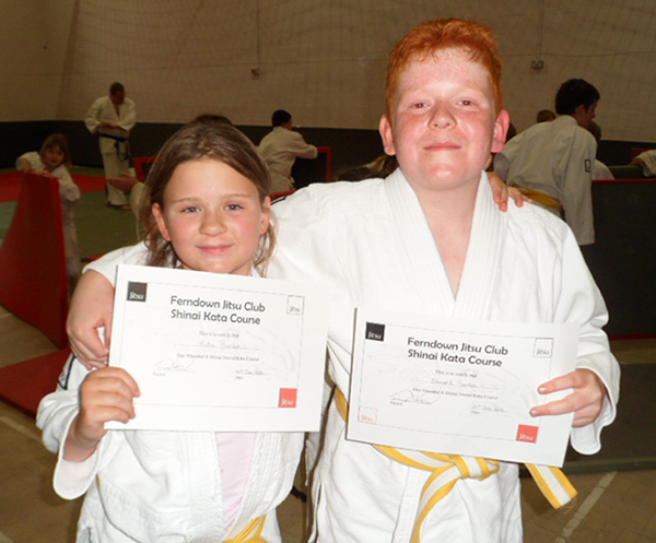 Ed and Kat Burden receive Sword Kata course certificates
