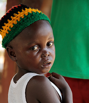 one of the many children whose life chances will be improved by this new hospital