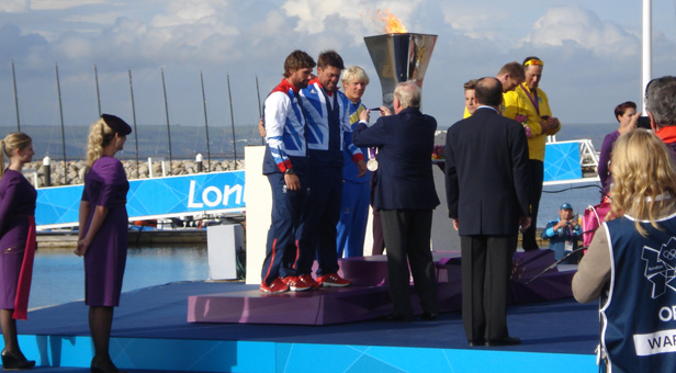 Olympic sailing medal ceremony