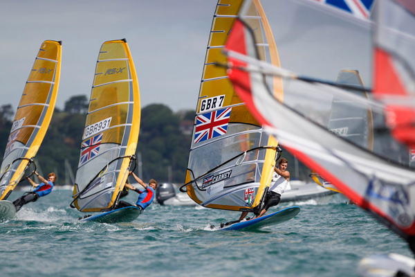 Olympic windsurfing in Weymouth