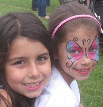 Children enjoying the Verwood CE First School Summer Fayre