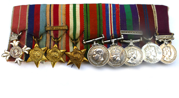 PHOTO: miniature replicas of the stolen medals