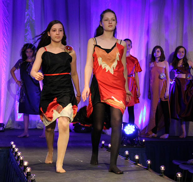 Pupils hit the catwalk at fashion show
