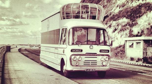 Caption -Vintage Mobile Cinema