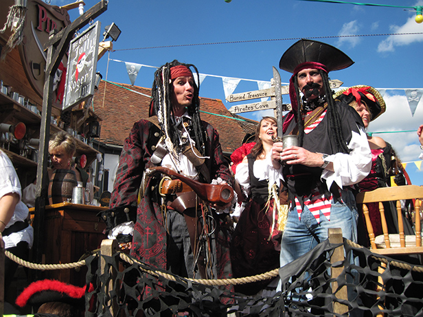 Pirates of the Carribbean carnival float