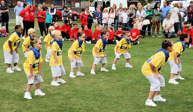 Mini beat performing at Fit Christchurch Fun Day