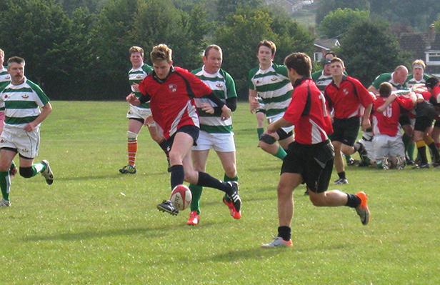 Rugby match underway in Salisbury