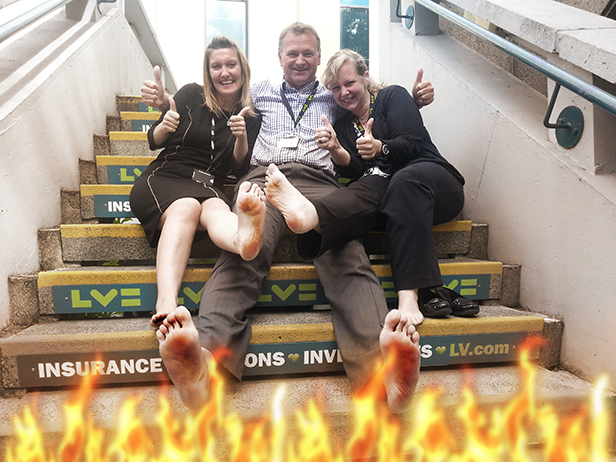 The Mayor's Charity Appeal Fund Fire Walk event sponsored by LV=
