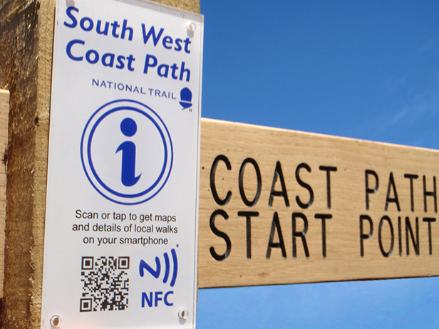 South West Coast Path Digital fingerpost
