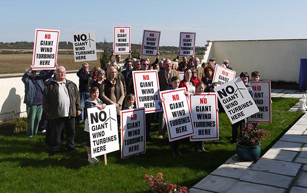 Protestors of the Alaska Windfarm