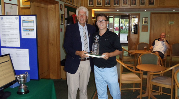 Marcus Lovesey receives his prize