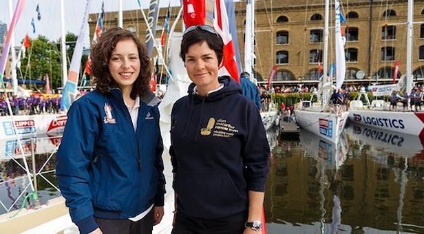 Kristie Reid and Dame Ellen MacArthur © Jonathan Brady/PA Wire