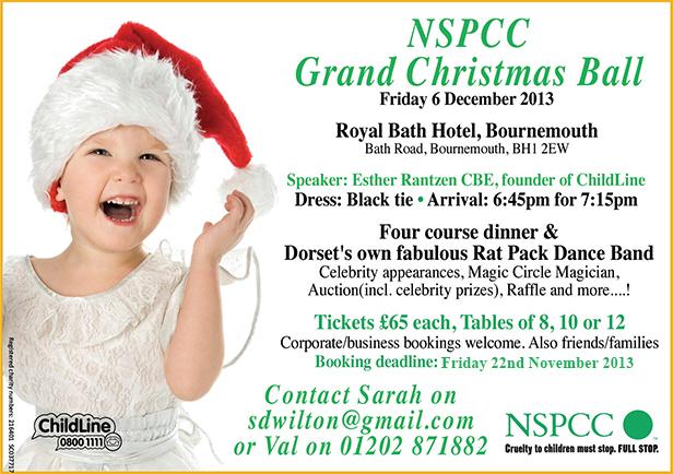 NSPCC Christmas Ball Flyer