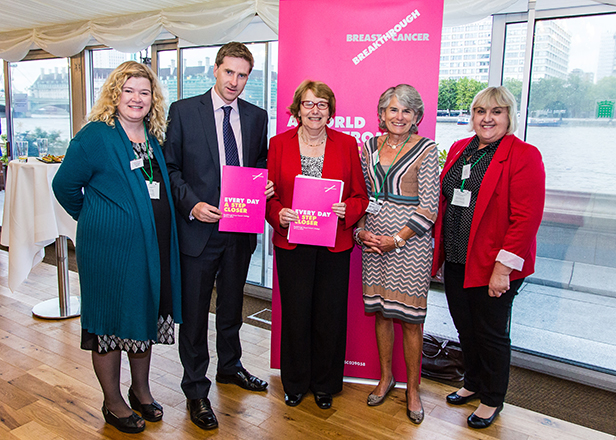 Annette with Steve Brine, another co-chair of the APPG and three of Breakthrough's supporters Amanda Jones, Janine McDonald and Pam Allinson