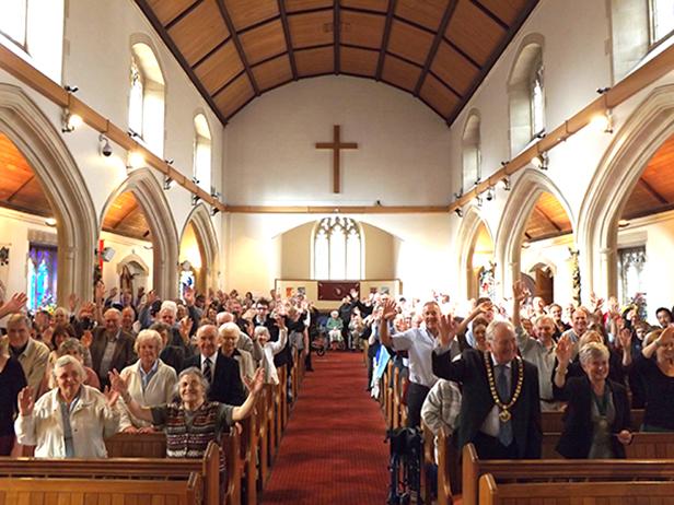 St Marys Church 80th Family Service with Mayor of Ferndown