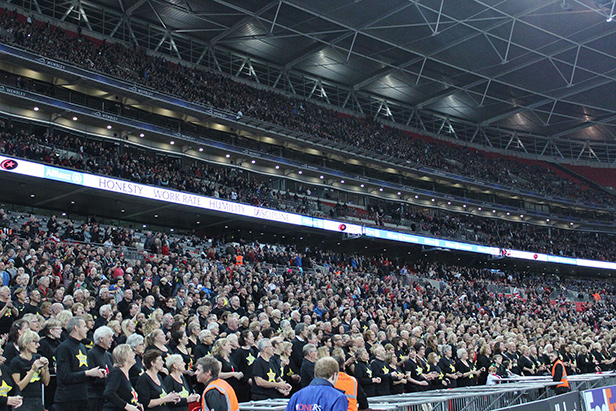 Rock Choir performing at Wembley