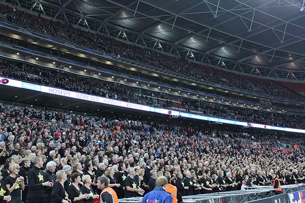 Rock Choir performing at Wembley
