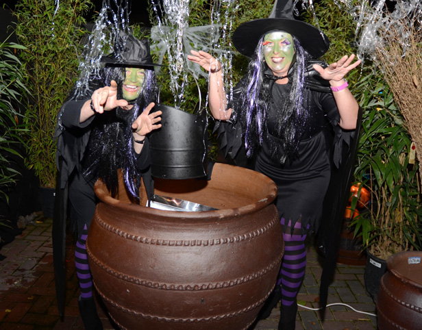 "Witches from last year's scary ""Haskins haunted trail"""