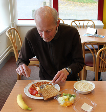 Phil Stanley-Watts with one of his RBH breakfasts