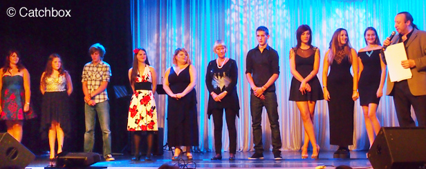 All the contestants of the Voice of Ferndown on stage at the prize giving