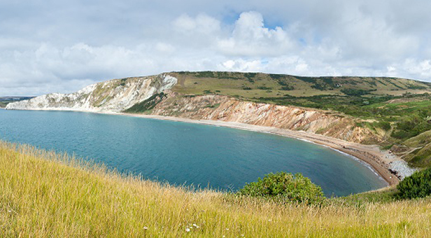 'Looking Back. Worbarrow Bay looking to Mupe Bay and Lulworth' © Peter Shepherd (showing the section of the Coast Path that has been improved)