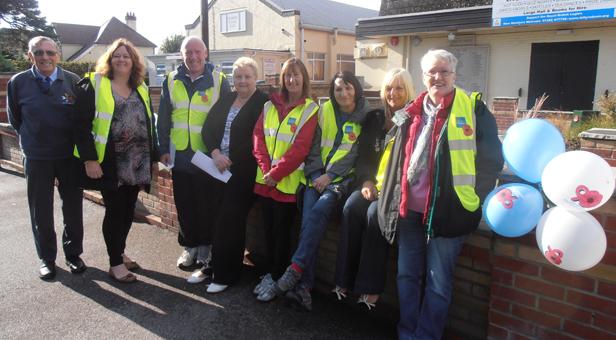 The Stewards Team outside the RBL Club in Ferndown